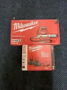 Milwaukee 2446-20 M12 12-Volt 14-Inch Lithium-Ion Grease Gun + 48-59-2442sp batt