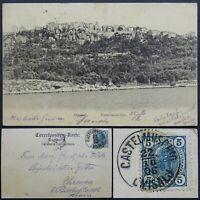 CROATIA Old Vintage Postcard Omisalj Posted 1906 RARE