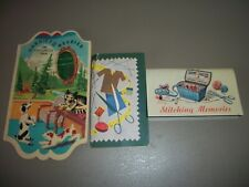 Lot of 3 Vintage Needle Card Booklets Advertising Kits