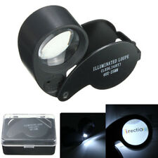 Jeweler Eye Watch Magnifier Glass LED Light Magnifying Jewelry Loupe 40 x 25MM