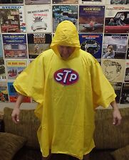 Vintage STP Patch Nylon Rain Poncho Crew Jacket NEW NOS NASCAR Drag Indy Racing
