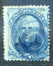 U.S. Stamps, Scott #179, Used, Blue Fancy Cancel, Value: $55*.  [0621]
