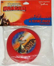 """~~~HOW TO TRAIN YOUR  DRAGON~~4  MINI FLYING DISCS  3.5"""" DIA.  PARTY  SUPPLIES"""