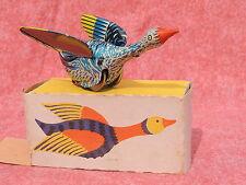 Jouet mécanique en tôle. Canard les ailes ouvertes 12,5 cm. Origine URSS