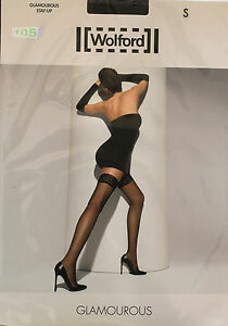 New@@ Hold-Ups Fancy Black 15 Den + WOLFORD Glamourous + S (FR40/42)
