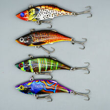 4pcs/lot Colorful Lifelike Plastic VIB Bass Fishing Lures 8cm/11.8g Bait Tackle