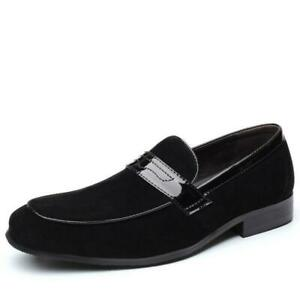 Men's Business Casual Shoes Slip On Faux Leather Suede Breathable Loafers 2021