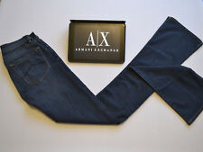 ARMANI EXCHANGE Navy Blue Jeans Skinny Bootcut Low Waist Women's W24 L34 - BNWT