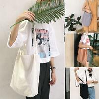 Women Canvas Tote Large Capacity Handbag Casual Messenger Tote Shoulder Bag