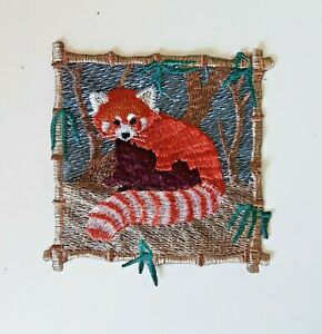 Raccoon in Frame Handmade Sew-On Embroidered Patch