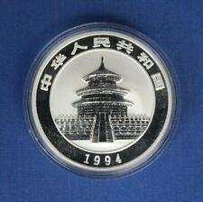 1994 China 1oz Silver Panda 10 Yuan coin in Capsule with COA