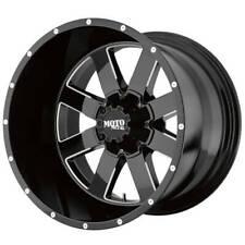 4ea 22x10 Moto Metal Wheels Mo962 Black Milled Off Road Rimss42 Fits Nissan Armada