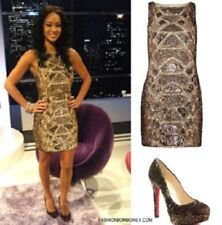 FABULOUS ICONIC ALL SAINTS EMBELISHED PYTHON SEQUIN DRESS UK8/US4/EU36 RRP £350
