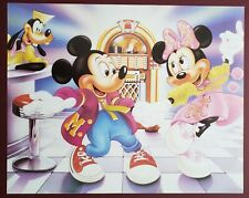 Disney's Mickey and Minnie Mouse Diner Dancing, Vintage OSP Poster 16x20