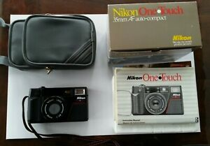 very gently used - Nikon One Touch 35mm compact camera - w/instructions and box