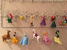 12 Disney Princess & Friends Christmas Tree Decorations Princesses Small Figures