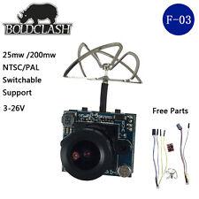 Boldclash F-03 AIO 5.8G 40CH 25MW/200MW 900TVL 1/3 Cmos FPV Camera VTX 3-26V