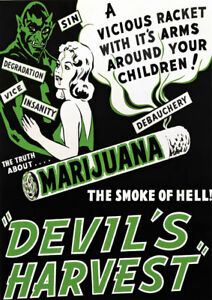 AZ16 Vintage Devils Harvest Marijuana Anti Drugs Poster Re-Print A2/A3