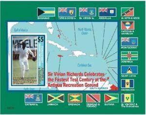 Antigua 2007 - West Indies Cricket Souvenir Sheet - MNH