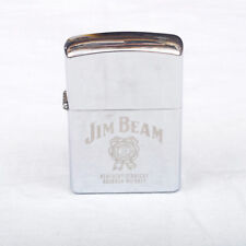 Vintage Petrol Lighter Jim Beam Kentucky Straight Bourbon Whiskey Logo Promotion