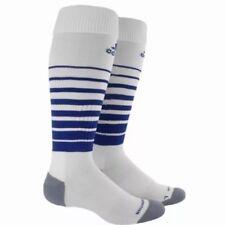 2 Pair Adidas soccer Team Speed socks small Youth 13c-4y White Royal Blue