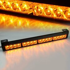 "18"" 16 LED Amber  Emergency Traffic Advisor Flash Strobe Light Bar Warning 12V"