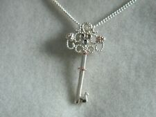 Clogau Silver & Rose Welsh Gold Kensington Key Pendant RRP £139.00