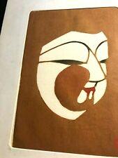 """EXOTIC MID-CENTURY HANGA JAPANESE WOODCUT  5x7(matted 9"""" x 6 1/2"""")signed INAGAKI"""