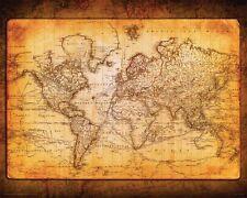 World Map Antique Vintage Old Style Decorative Poster Print 20X16 (51X40.5cm)