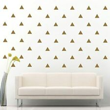 "96 of 3"" Gold Triangle Removable Peel & Stick DIY Wall Vinyl Decal Sticker"