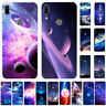 For Huawei Y5 Y6 Y7 Y9 Prime 2019 Slim Soft Silicone Painted TPU Back Case Cover
