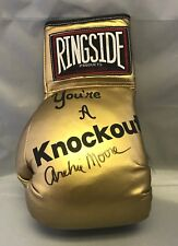 Archie Moore Signed Autographed Gold Ringside Boxing Glove COA