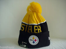 Pittsburgh Steelers Cuffed Knit Pom Beanie Cap Licensed NFL Authentic New Era