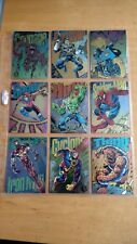 1994 Marvel Universe Complete 9 Card Rainbow Powerblast Chase Set Nm/Mint
