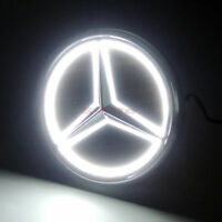 5D Car LED Tail Logo White Light Badge Emblem Light For Mercedes-Benz S300L S350