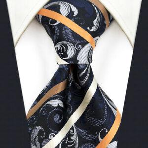 S&W SHLAX&WING Tie Sets for Men Dark Gray Neck Tie Brown Striped