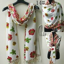 Cashmere Blend Floral Scarves for Women