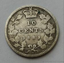 1882 Canada 10 Ten Cent .925 Coin