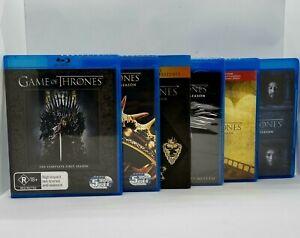 GAME OF THRONES Seasons 1 2 3 4 5 6 BLU-RAY 28 Discs Free Post Series Region B