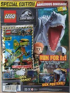 Lego Jurassic World Magazine #15 with FREE Dilophosaurus Lego Set