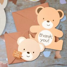 Teddy Bear Party 8 Invitations & 8 Thank You Cards Pack With Envelopes