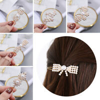 Metal Hair Accessories Barrettes Women Pearl Hairpins Hair Clips Rhinestone