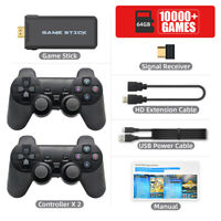 10000 in 1 Wireless 4K HDMI TV Gaming Stick Video Games Console Host + 2 Gamepad