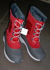 aa424f831a03a Lands End Womens Expedition red suede & gray faux fur winter snow boots 7  NWOB