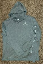 Nike AIR JORDAN Boys Lightweight Hoodie XL Heathered Gray