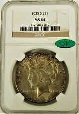 1935-S Peace Dollar NGC MS-64 CAC