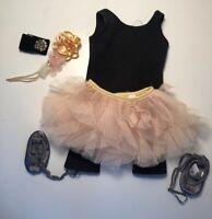 American Girl Isabelle Performance Set Unitard Tutu Skirt Wristband Ballet Shoes
