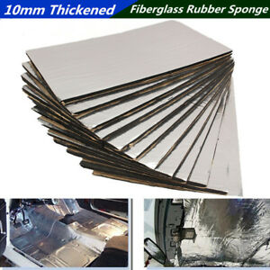 12 Pcs 10mm Thickened Car Roof Door Noise Insulation Sound Heat Deadening Mat