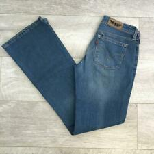 "Womens Blue LEVIS 572 27""W 32""L Vintage Bootcut Stretch Denim Jeans 572s #C4578"