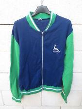 Veste TRAINING vintage années 80 marine vert jacket tracktop sport oldschool L
